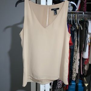 Beige Forever21 Sleeveless Top
